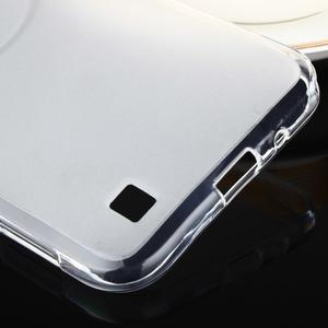 Gélový matný obal pre mobil Asus Zenfone Zoom - biely - 5