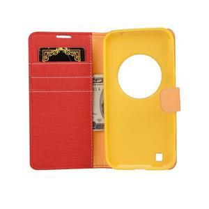 PU kožené puzdro pre Asus Zenfone Zoom - červené - 5