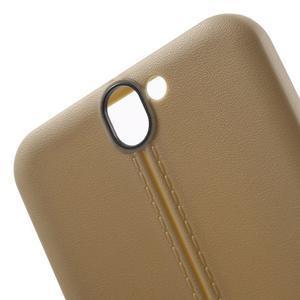 Lines gélové puzdro na mobil HTC One A9 -  champagne - 5