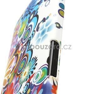 Plastový kryt pre HTC One M7 - kvety - 5