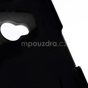 Broušený hliníkový plastový kryt pre HTC One M7 - čierny - 5