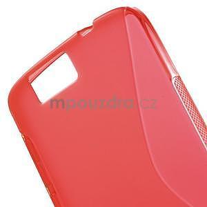 Gélový kryt S-line Huawei Ascend G7 - červený - 5