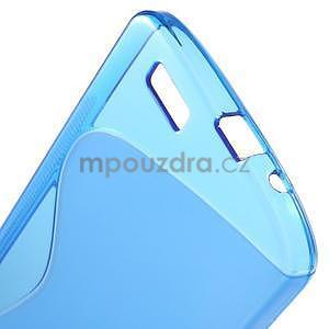 Gélový kryt S-line Huawei Ascend G7 - modrý - 5