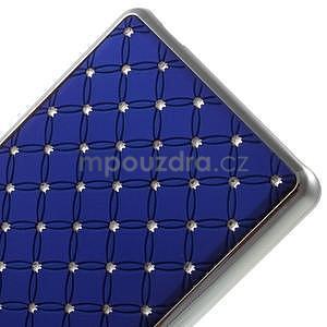 Drahokamový plastový obal na Huawei Ascend P8 Lite - modrý - 5