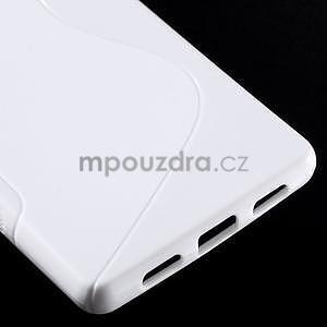 Bílý S-line gelový obal na Huawei Ascend P8 Lite - 5