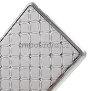 Drahokamový plastový obal na Huawei Ascend P8 Lite - bílý - 5