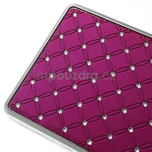 Drahokamový plastový obal na Huawei Ascend P8 Lite - rose - 5