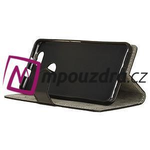 Wally PU kožené puzdro na mobil Huawei Nova - čierne - 5