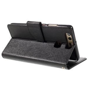 Crossy peňaženkové puzdro na Huawei P9 - čierne - 5
