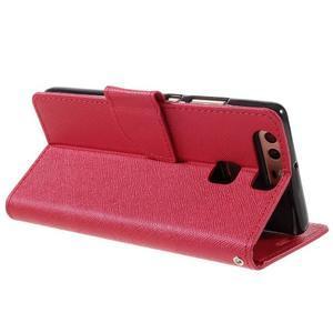 Crossy peňaženkové puzdro na Huawei P9 - červené - 5