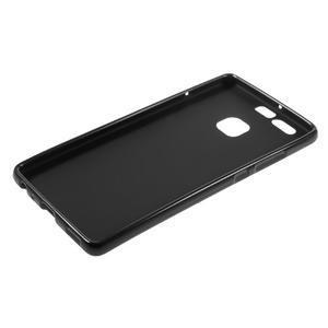 Trend matný gelový obal na mobil Huawei P9 - černý - 5