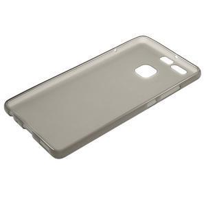 Trend matný gelový obal na mobil Huawei P9 - šedý - 5