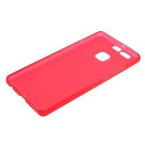 Trend matný gelový obal na mobil Huawei P9 - červený - 5