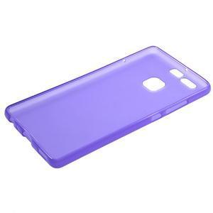 Trend matný gelový obal na mobil Huawei P9 - fialový - 5