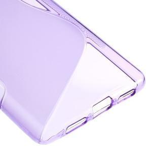 S-line gélový obal pre mobil Huawei P9 Lite - fialový - 5