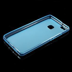Matný gélový obal pre mobil Huawei P9 lite - modrý - 5