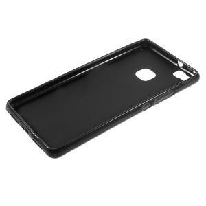 Matný gélový obal pre mobil Huawei P9 lite - čierny - 5