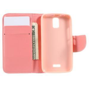 Peňaženkové puzdro na mobil Huawei Y3 a Y360 - srdce - 5