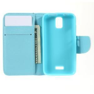 Peněženkové pouzdro na mobil Huawei Y3 a Y360 - modrý motýl - 5