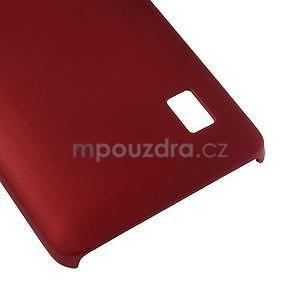 Červený pogumovaný plastový kryt na Huawei Y635 - 5