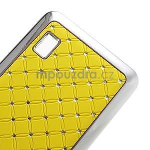 Drahokamový plastový kryt na Huawei Y635 - žltý - 5
