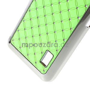 Drahokamový plastový kryt na Huawei Y635 - zelený - 5
