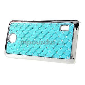 Drahokamový plastový kryt na Huawei Y635 - svetlo modrý - 5