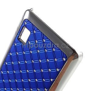 Drahokamový plastový kryt na Huawei Y635 - modrý - 5