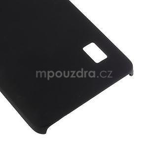Čierny pogumovaný plastový kryt na Huawei Y635 - 5