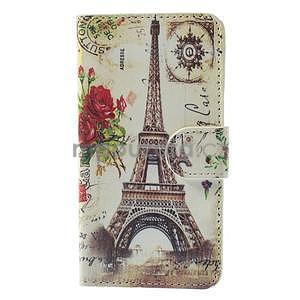 Stylové klopové puzdro na Samsung Galaxy A3 - Eiffel - 5