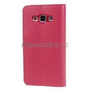 Rose kožené peňaženkové puzdro pre Samsung Galaxy A3 - 5