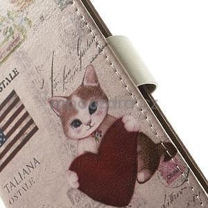 Peňaženkové puzdro pre Samsung Galaxy A3 - americké srdce - 5