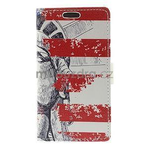 Peňaženkové puzdro pre Samsung Galaxy A3    - Socha Svobody - 5
