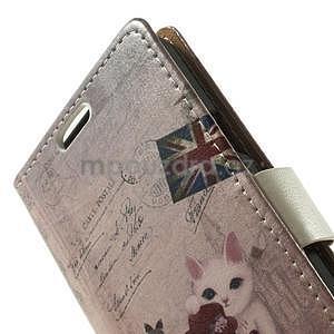 Peňaženkové puzdro pre Samsung Galaxy A3 - kočička - 5