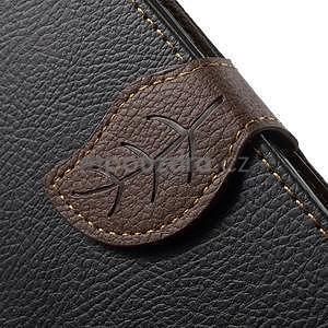 Čierné/hnedé kožené puzdro na Samsung Galaxy A5 - 5