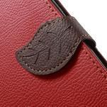 Červené/hnedé kožené puzdro na Samsung Galaxy A5 - 5/7