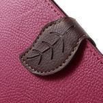 Rose/hnedé kožené puzdro na Samsung Galaxy A5 - 5/7