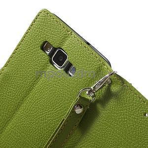 Zelené/hnedé kožené puzdro na Samsung Galaxy A5 - 5