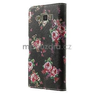 Peňaženkové zapínací puzdro na Samsung Galaxy A5 - růže - 5