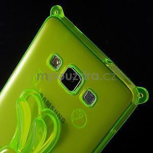 Zelený gélový obal s nastavitelným stojánkem na Samsung Galaxy A5 - 5