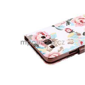 Květinové peňaženkové puzdro na Samsung Galaxy A5 - biele - 5