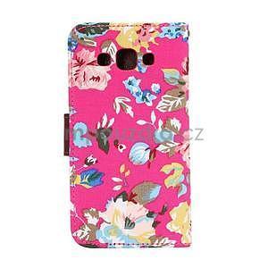 Kvetinové peňaženkové puzdro pre Samsung Galaxy A5 - rose - 5