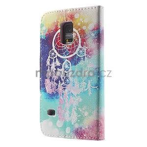 Zapínací peňaženkové puzdro pre Samsung Galaxy S5 mini - snívanie - 5