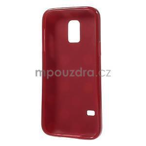 Červený puntíkatý gélový obal pre Samsung Galaxy S5 mini - 5