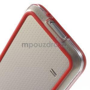 Červený gélový kryt s plastovými lemy pre Samsung Galaxy S5 mini - 5