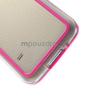 Rose gélový kryt s plastovými lemy pre Samsung Galaxy S5 mini - 5