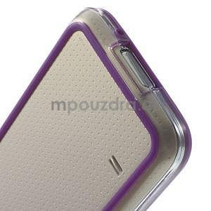 Fialový gelový kryt s plastovými lemy na Samsung Galaxy S5 mini - 5