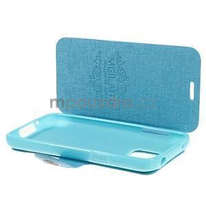 Světle modré  zapínací pouzdro na Samsung Galaxy S5 mini - 5