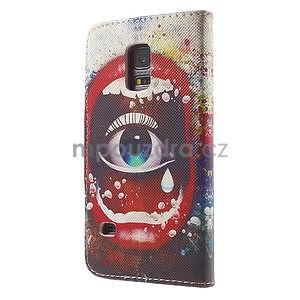 Zapínací peňaženkové puzdro pre Samsung Galaxy S5 mini - oko - 5