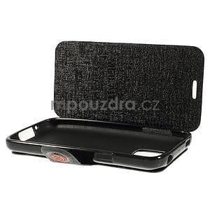 Černé zapínací pouzdro na Samsung Galaxy S5 mini - 5